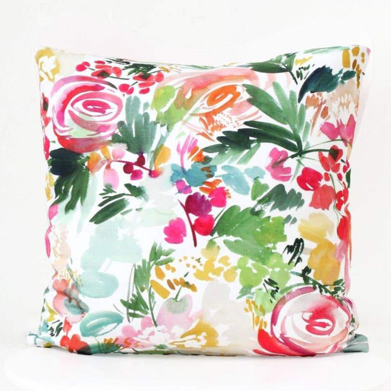 Peony Waltz Throw Pillow Cover