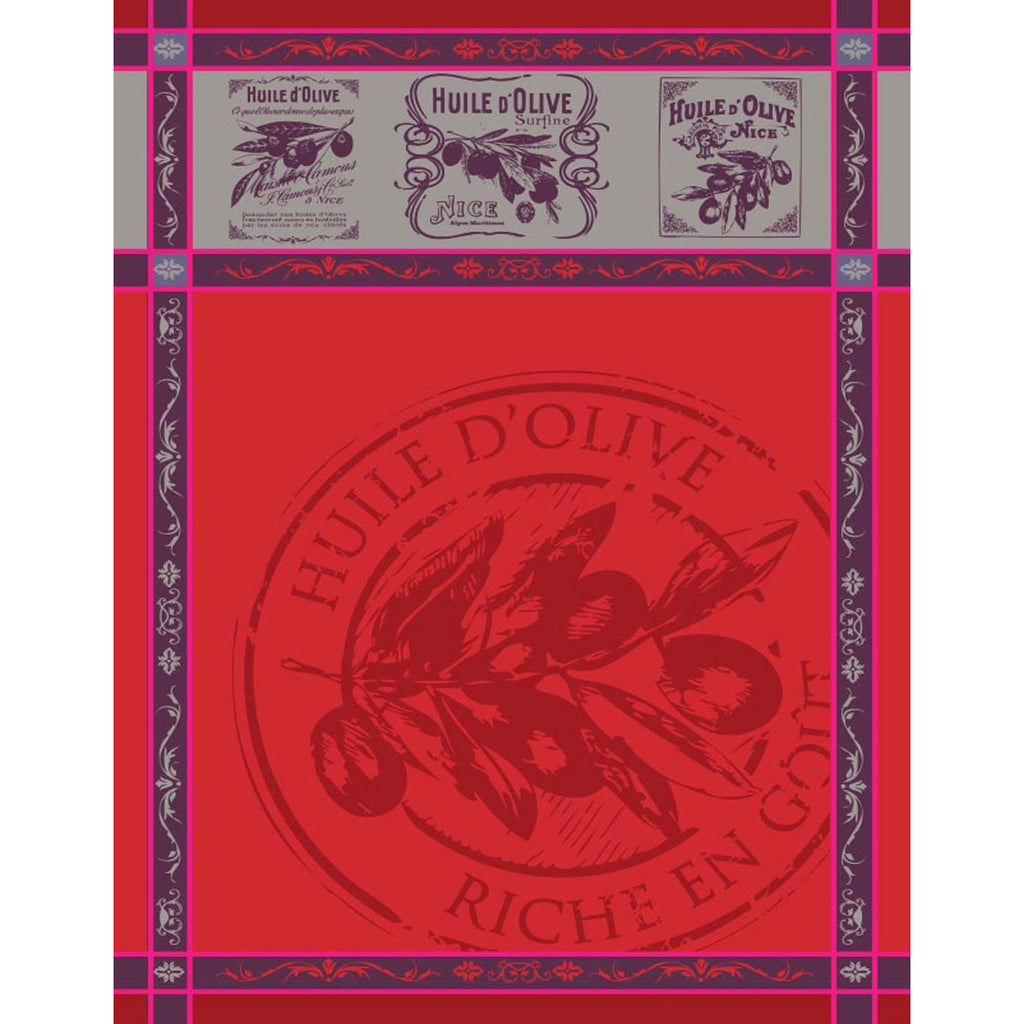 Red Picholine Tea Towel Sud Etoffe