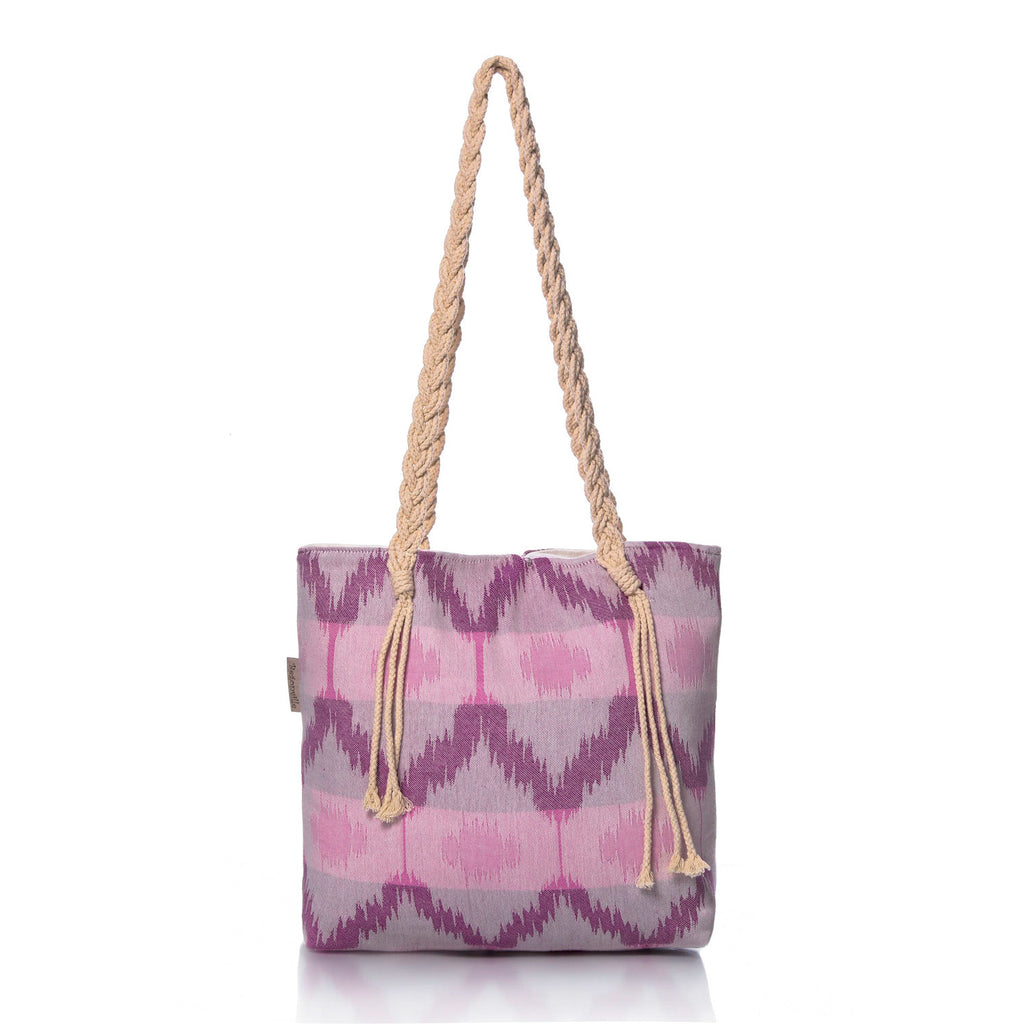Purple Ripple Beach Bag