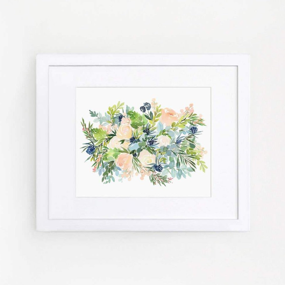 Roses and Thistle Art Print