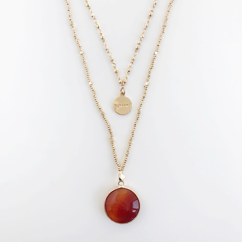 Sadie Necklace Orange Agate