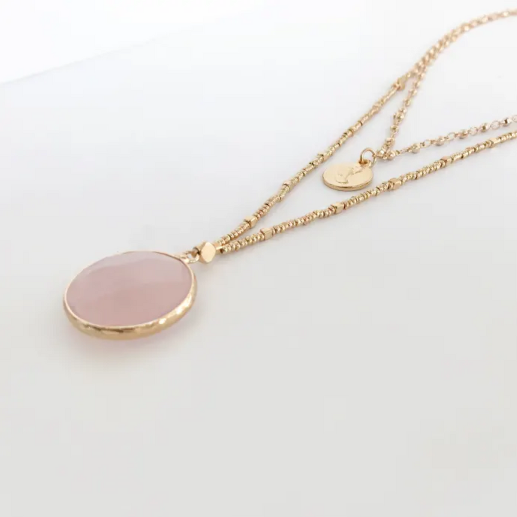 Sadie Necklace Rose Quartz