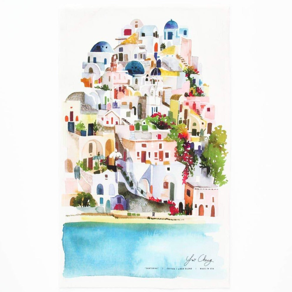 Santorini Tea Towel