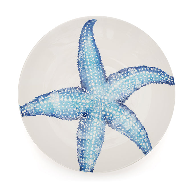 Blue Starfish Serving Bowl