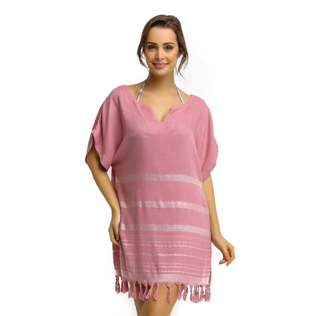 Shiny Pink Beach Tunic