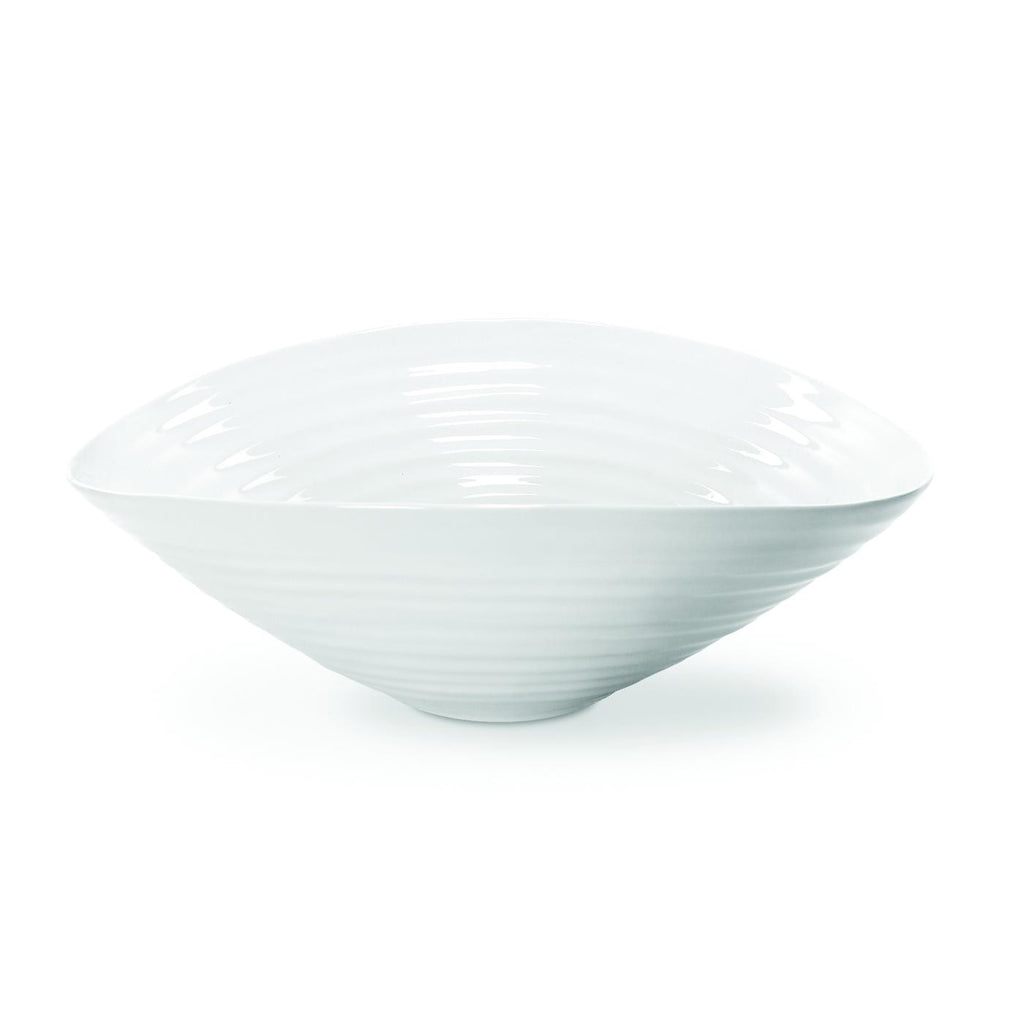 Large White Salad Bowl