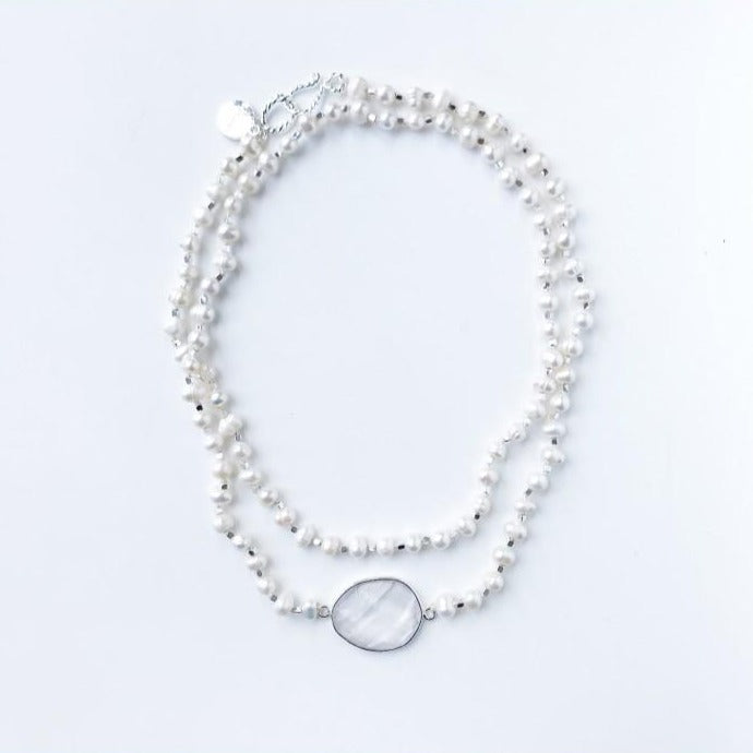 Stanwyck Pearl Quartz Necklace