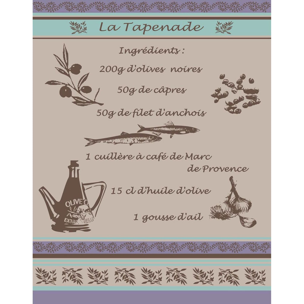 Tapenade French Tea Towel Sud Etoffe
