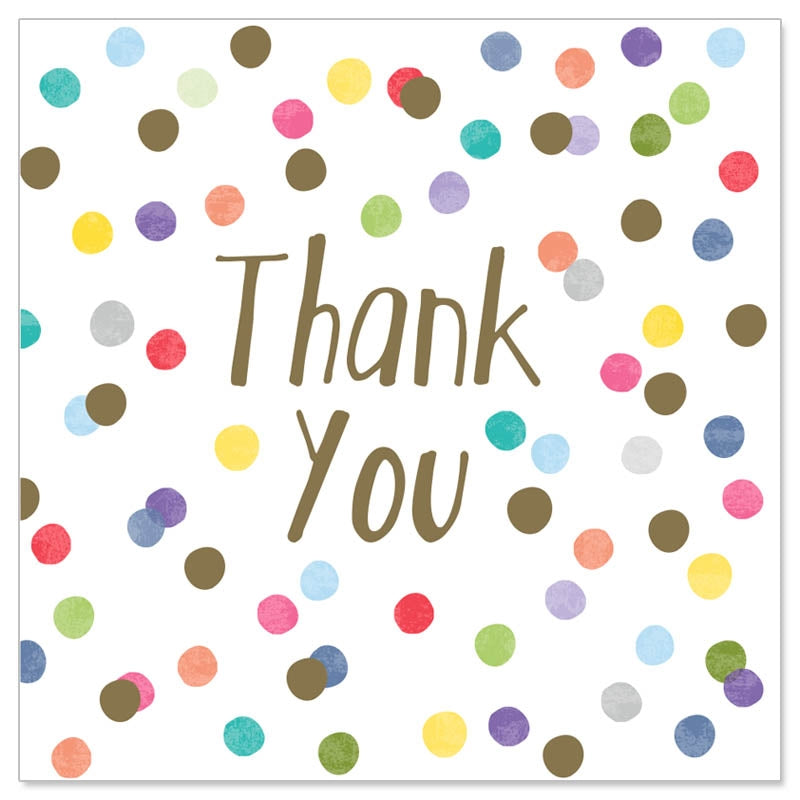 Colorful Dots Thank You Mini Card