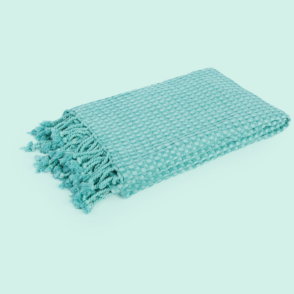 Throw Blanket Turquoise