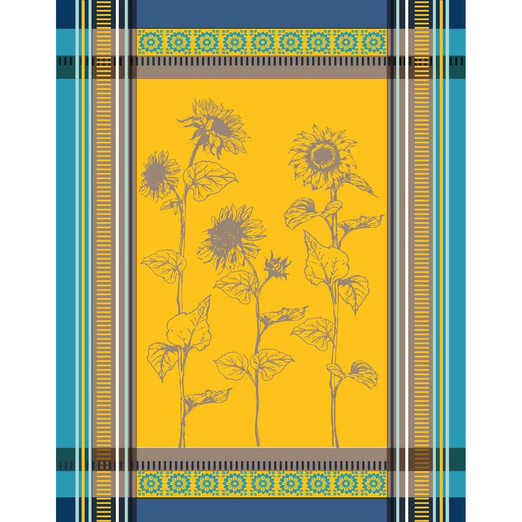 Tournesol Yellow French Tea Towel Sud Etoffe