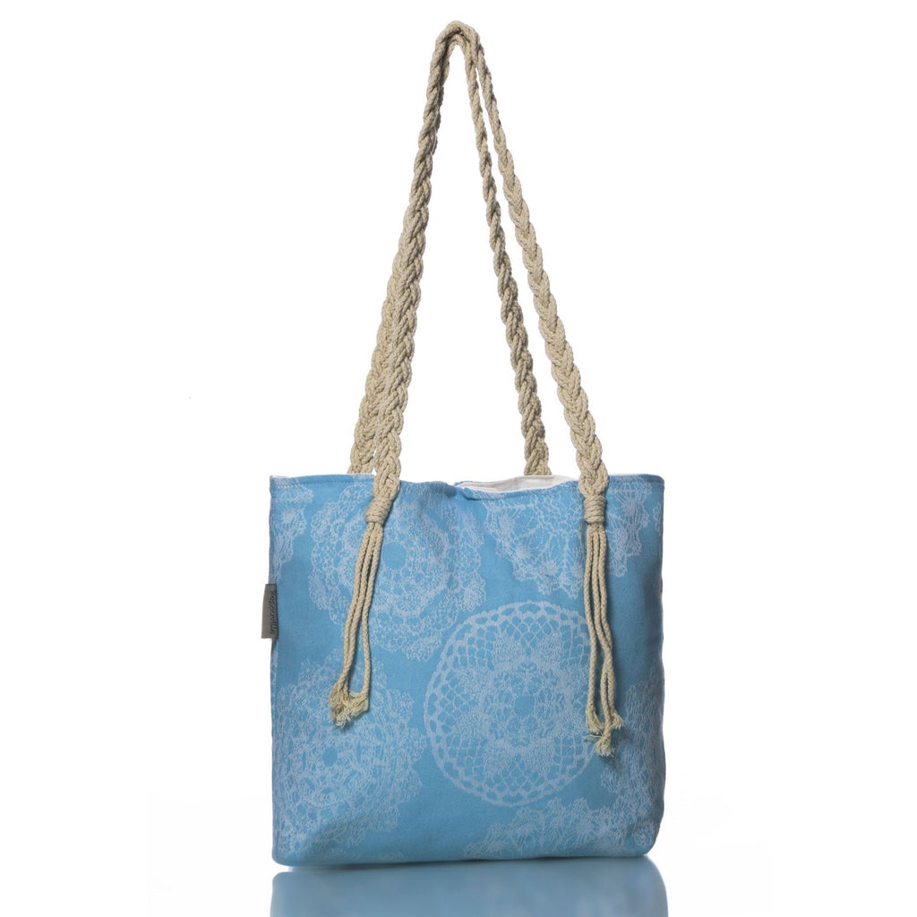 Turquoise Lace Beach Bag