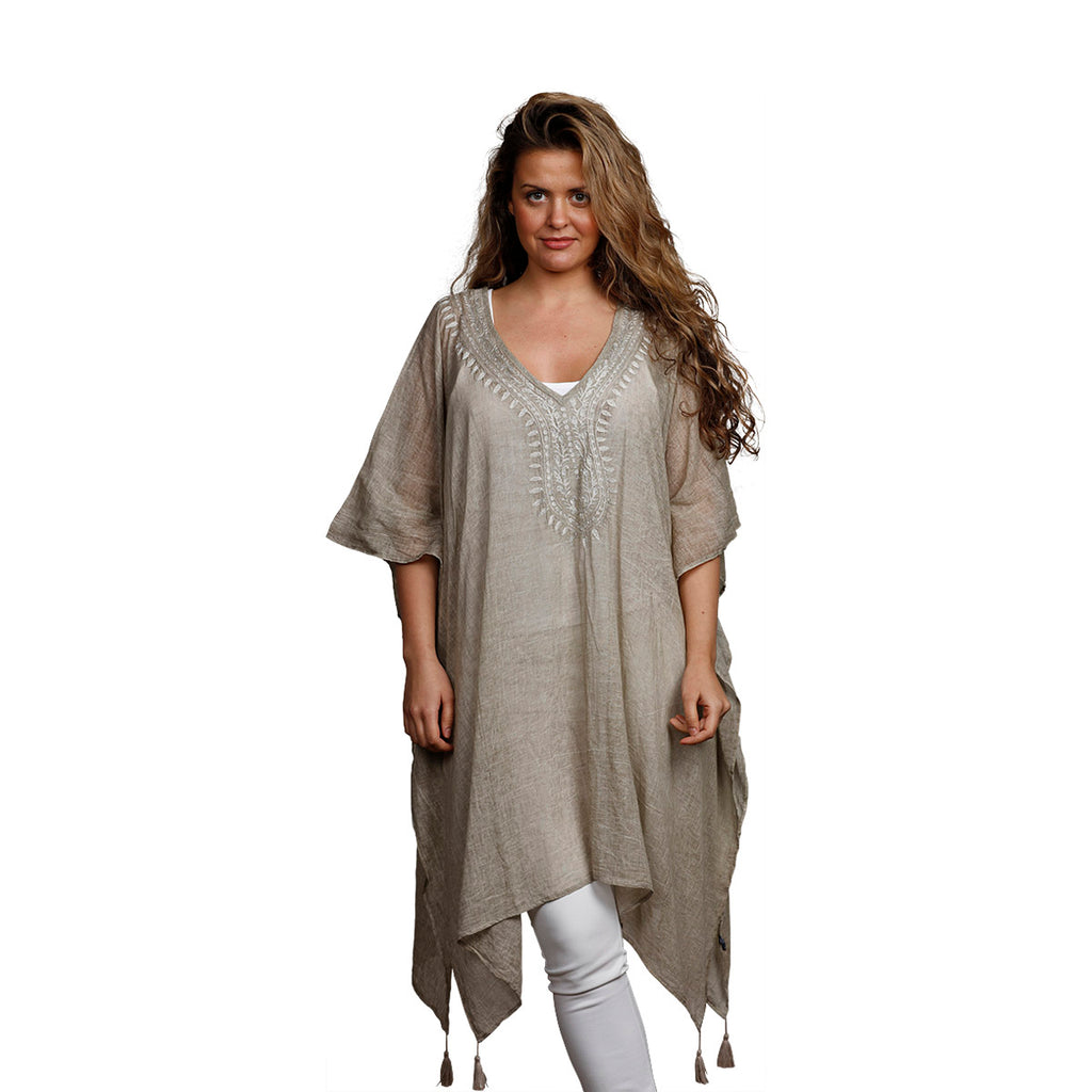 Vilma Light Beige Kaftan