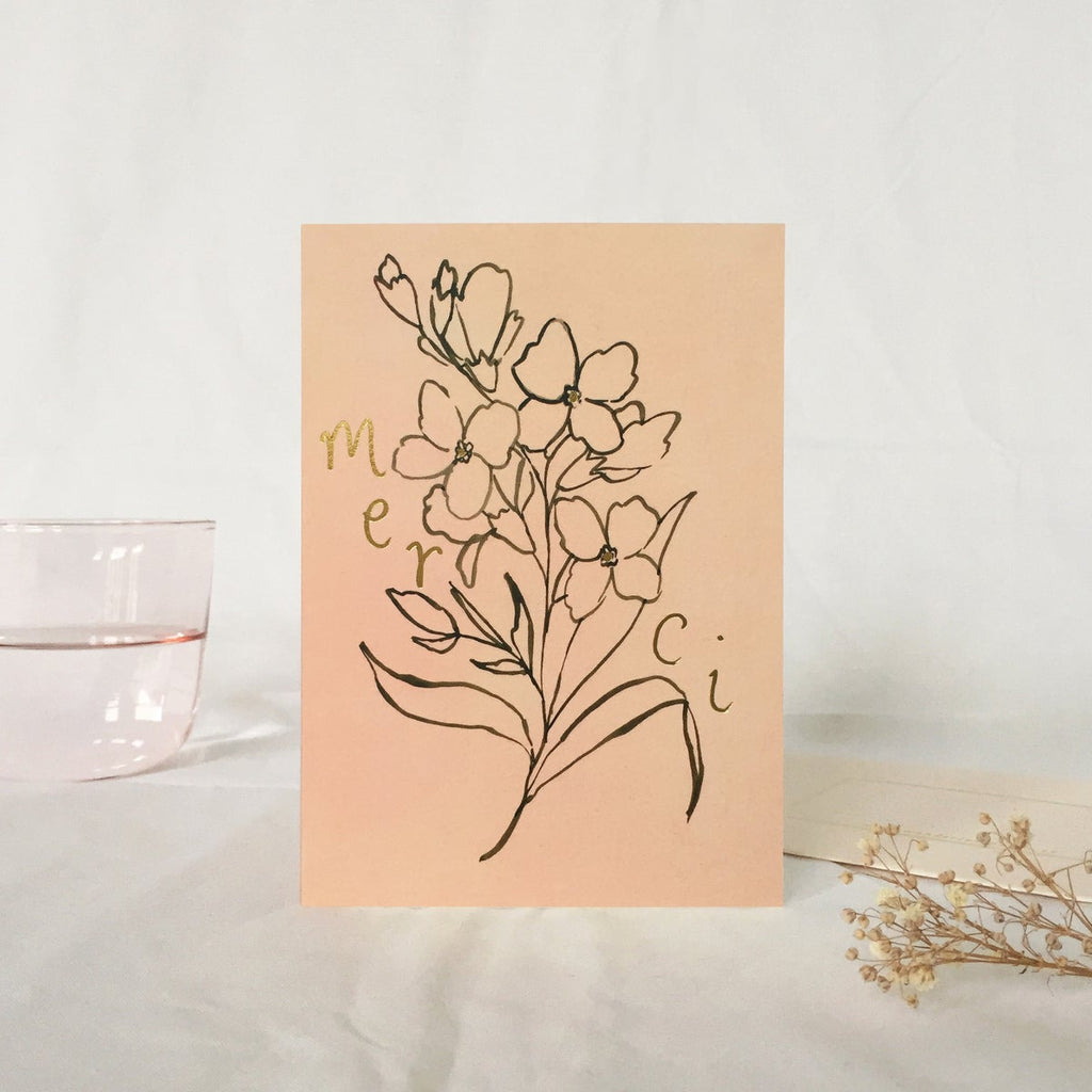 Foxglove Merci Card