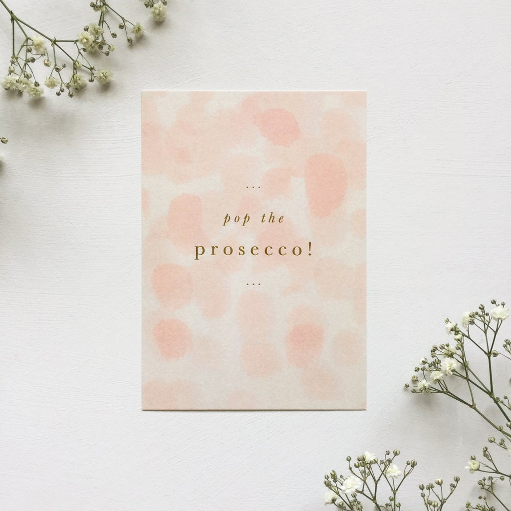 Pop the Prosecco Card