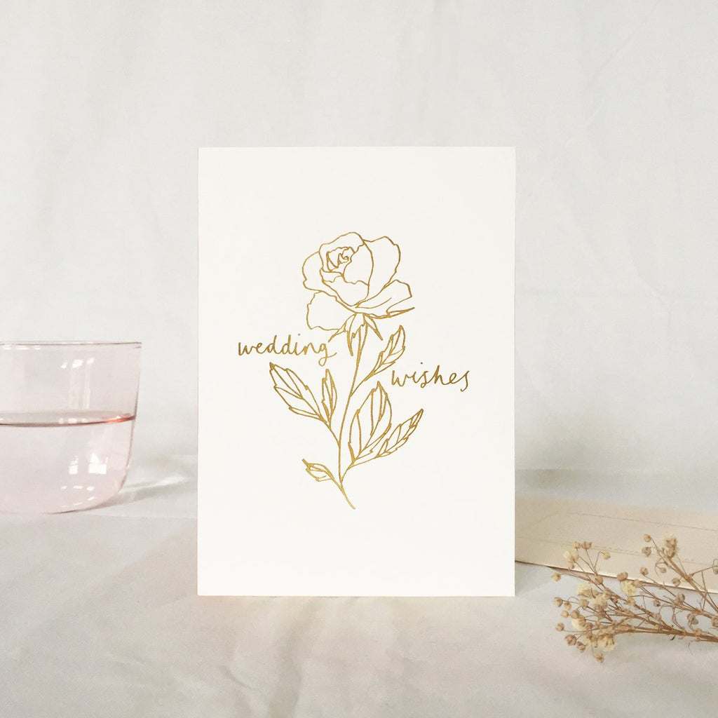 Rose Wedding Wishes Card