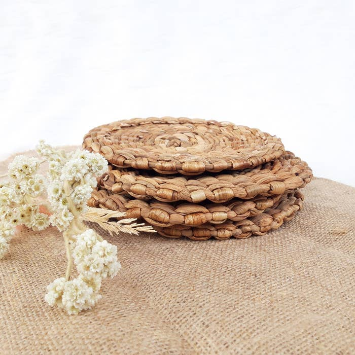 Water Hyacinth Coasters