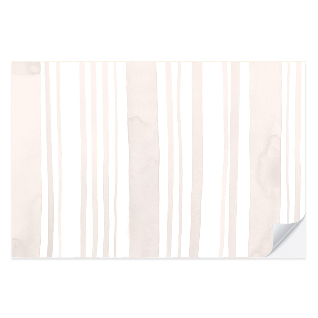 Watercolor Neutral Stripe Placemat Pad