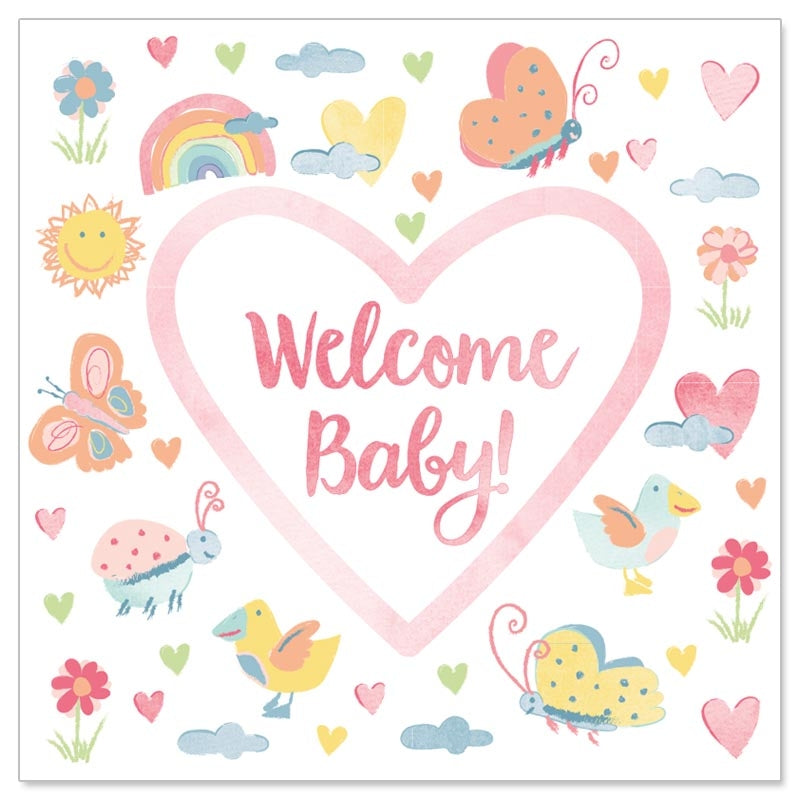 Welcome Baby Whimsical Mini Card