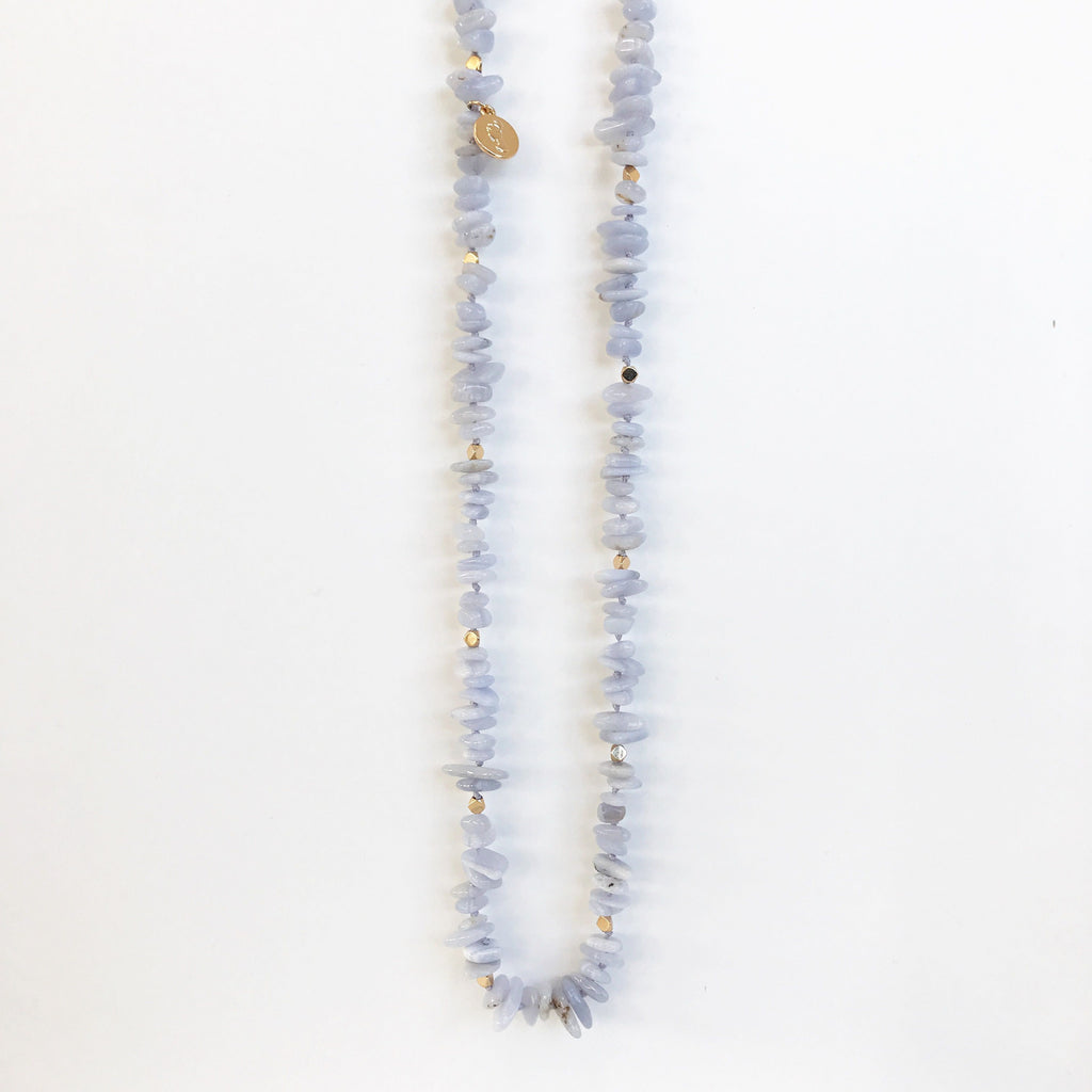 Zara Blue Agate Necklace