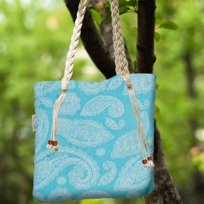 Paisley Turquoise Beach Bag