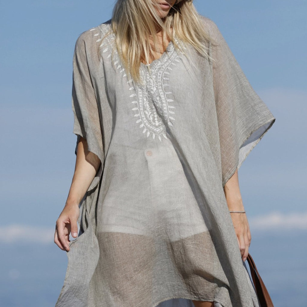 Vilma Kaftan Light Grey