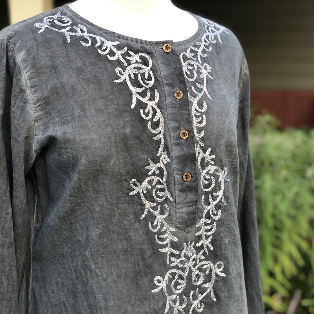 Alexandra Tunic Grey and Silver