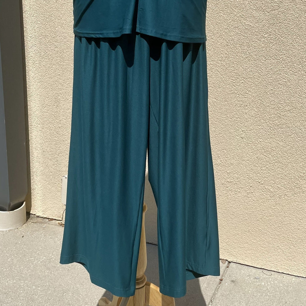 La Mer Luxe Holly Crop Pant in Teal