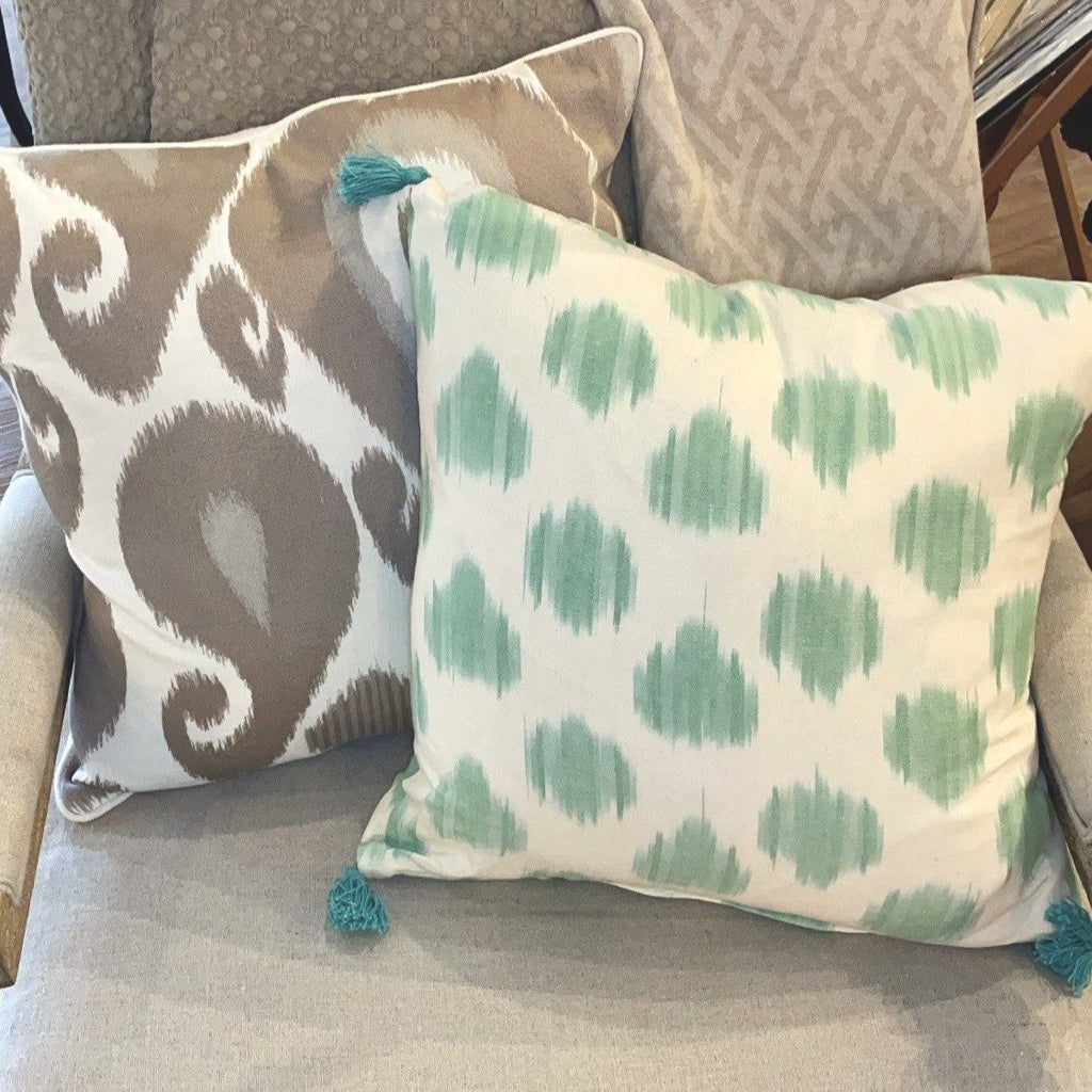 Ikat Pillow in Green