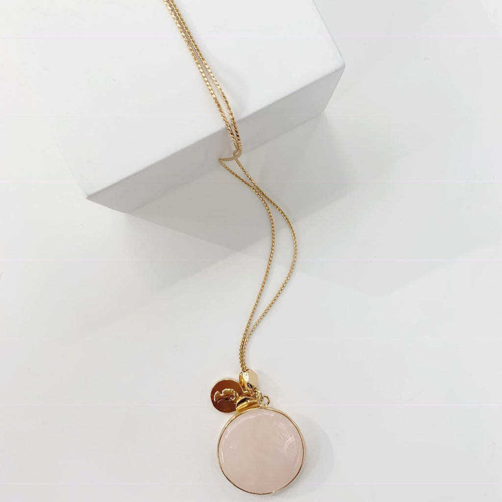 Novak Necklace Rose Quartz