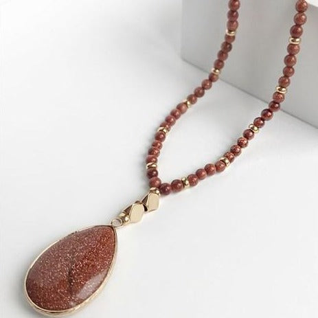 Sera Caramel Sandstone Necklace