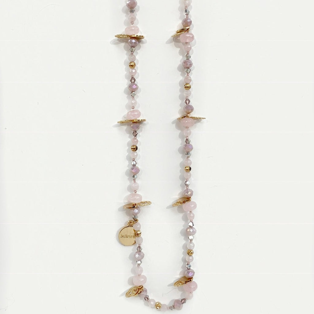 Skye Rose Quartz Twistable Necklace