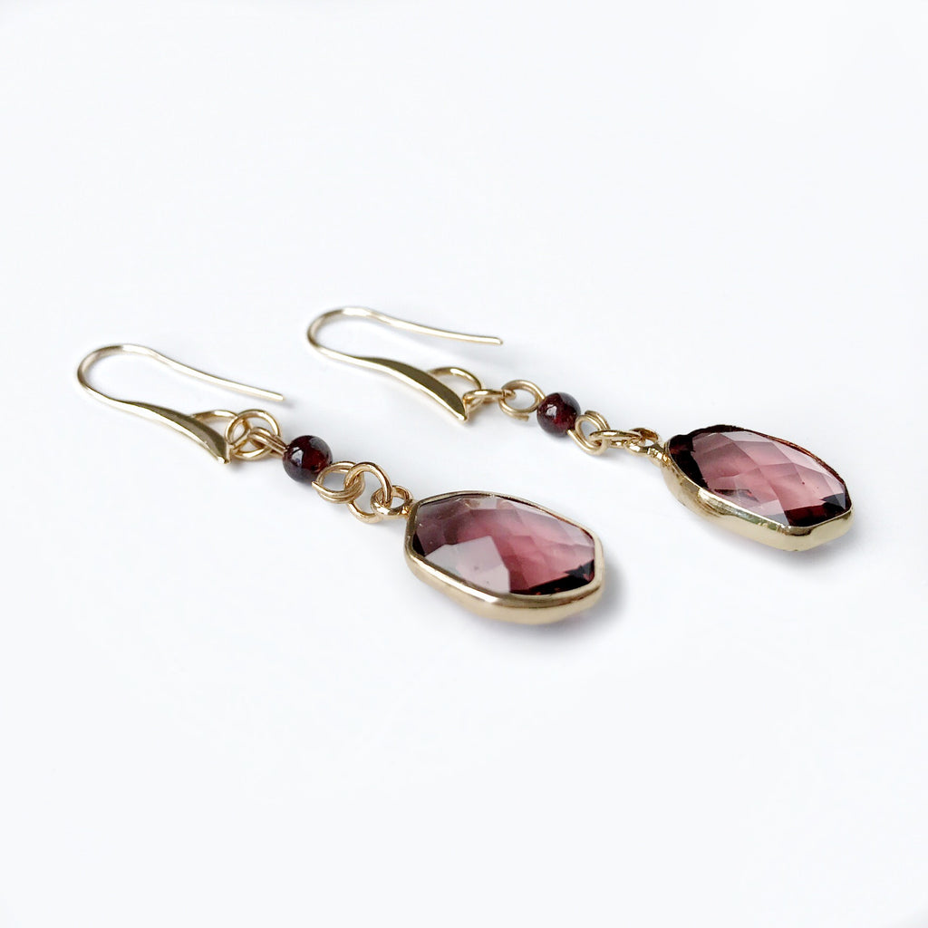 Stefanie Garnet Earrings
