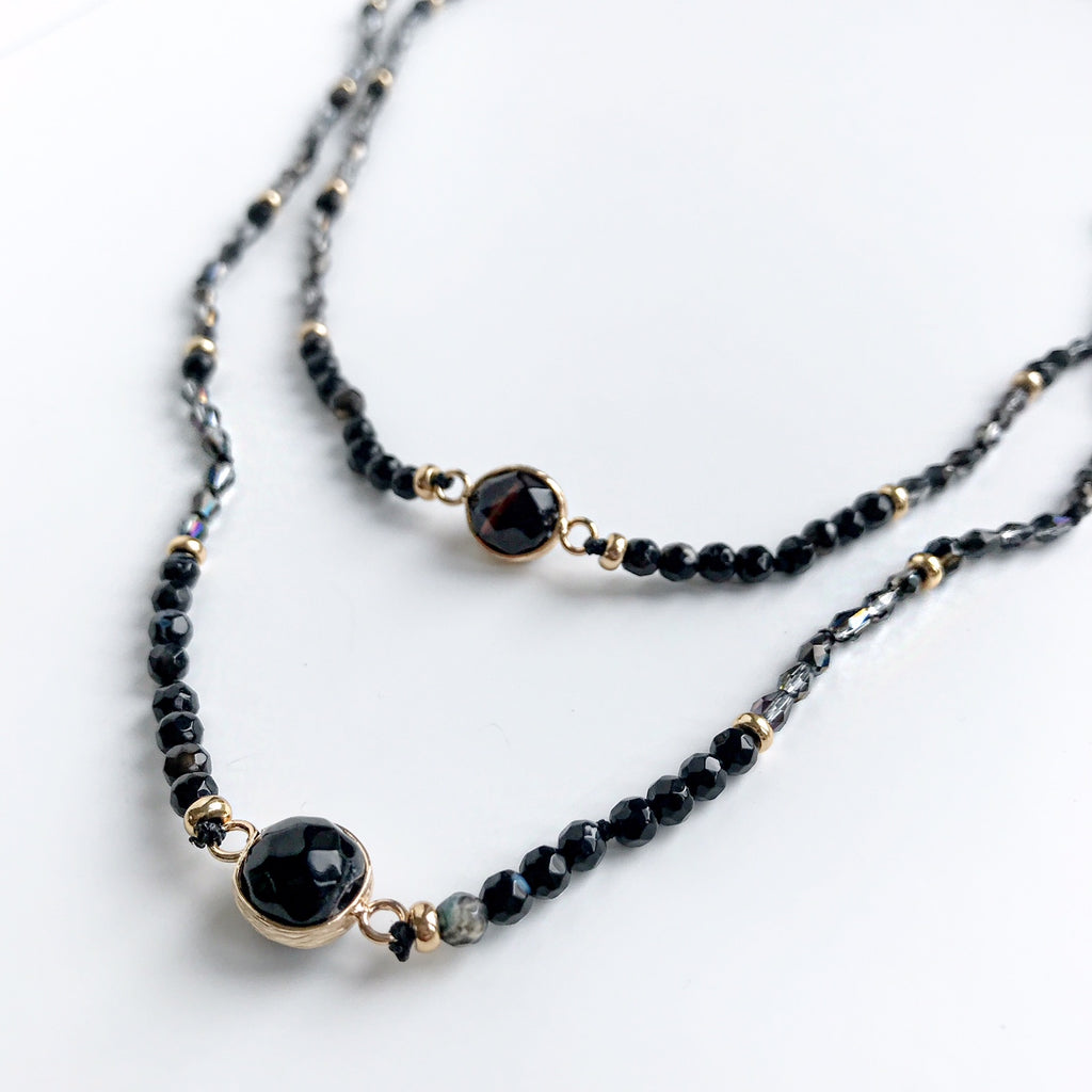 Thyra Black Agate Necklace