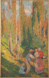 henri-martin-1905-sketch-for-the-wedding-room-of-the-town-hall-of-the-10-in-summer-country-scene-art-print-fine-art-reproduction-wall- art