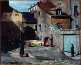 auguste-lepere-1875-episode-of-the-commune-rue-des-rosiers-in-montmartre-art-print-fine-art-reproduction-wall-art