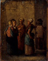 charles-raymond-chabrillac-1852-group-of-women-in-the-street-art-print-fine-art-reproduction-wall-art