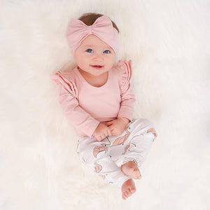 Girl Clothes Newborn Baby Romper T-shirt Top + Pants Leggings Outfits 3PCS Set