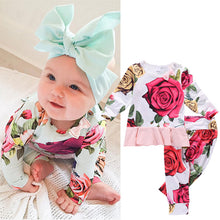 Load image into Gallery viewer, Baby Girl 2Pcs Newborn T-shirt Shirt Tops + Long Pants Outfits Sets