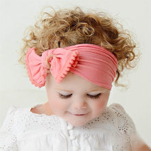 Load image into Gallery viewer, Baby Girl Hairband Soft Cotton Bow with Tassel