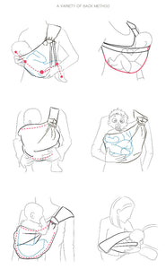 Ergonomic Infant Slings Baby Carrier Wrap Baby Backpack - Breastfeeding Support