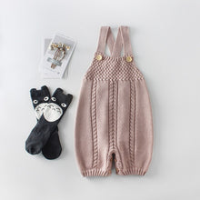 Load image into Gallery viewer, Knitted Baby Rompers for Girls Boys Autumn Winter Infant Jumpsuit Sleeveless Cotton Toddler Overalls
