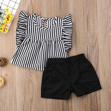 Load image into Gallery viewer, Stripped Girl Sleeveless Tops Shorts Pants Summer Outfits Clothes