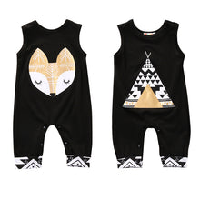 Load image into Gallery viewer, Toddler Newborn Baby Boy / Girl Romper Sleeveless Cartoon Fox One Pieces Sunsuit