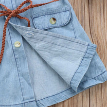 Load image into Gallery viewer, Denim Jean Dress 2-7T