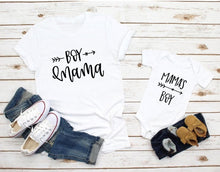 Load image into Gallery viewer, 1pcs Mom and Son Matching Clothes - Mama Little Boy Rompers Mommy Tshirt