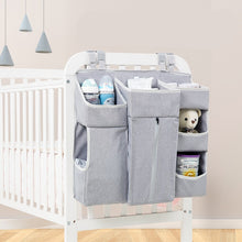 Load image into Gallery viewer, Portable Baby Crib Organizer - Essentials Diaper Storage
