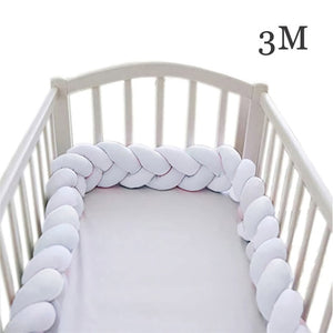 Baby Bed Bumper 2M 3M 4M Long Knotted Braided Crib Bumpers
