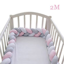 Load image into Gallery viewer, Baby Bed Bumper 2M 3M 4M Long Knotted Braided Crib Bumpers