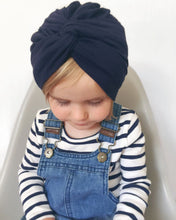 Load image into Gallery viewer, Baby Turban Boy Girl Cotton Blends Hat Soft Solid color Knot Beanies Baby Gifts
